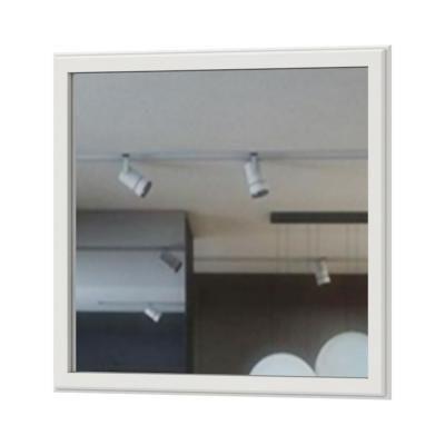 Fali tükör, 82x98 cm, fehér-fenyő - NORDIC